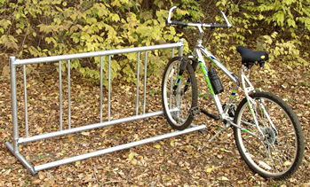 outdoor bicycle racks and bikeracks